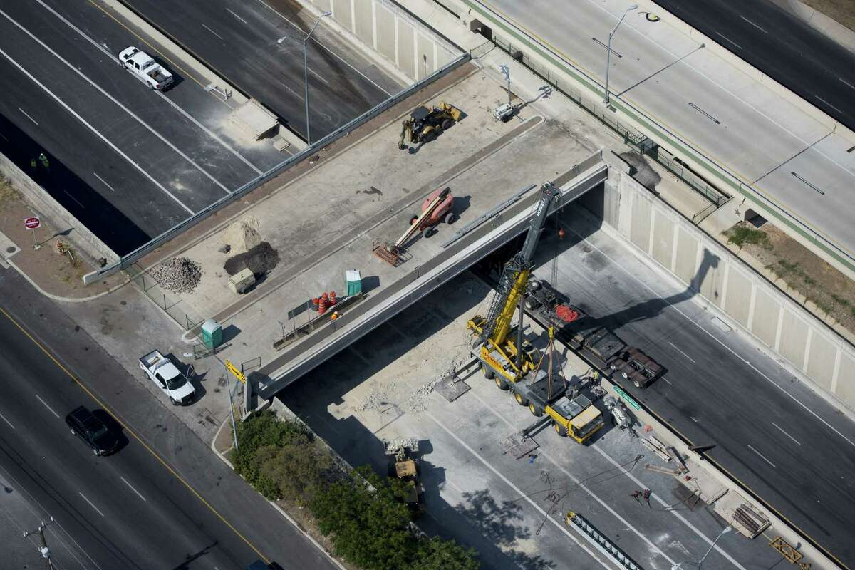 Part of the Henderson Pass bridge was damaged when an 18-wheeler slammed into it Aug. 14. Repairs were completed a day and a half ahead of schedule, and all lanes of U.S. 281 were reopened Saturday.