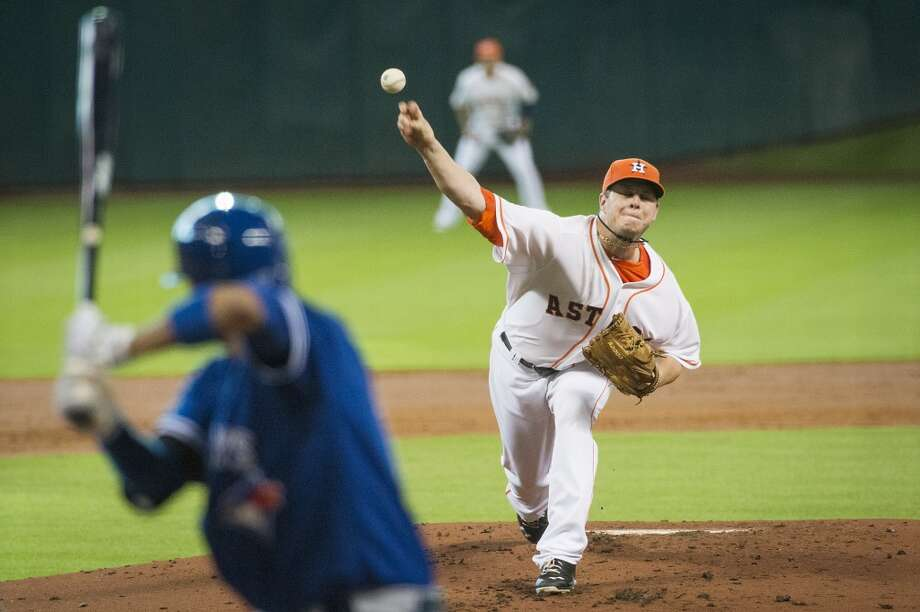 Aug. 24: Astros 8, Blue Jays 5  Astros starting pitcher Brad Peacock picked up the win, striking out five batters in 5 2/3 innings. Photo: Smiley N. Pool, Houston Chronicle