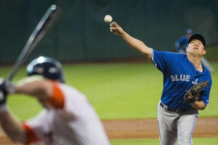Blue Jays starting pitcher Chien-Ming Wan lasted only three innings in the loss. Photo: Smiley N. Pool, Houston Chronicle