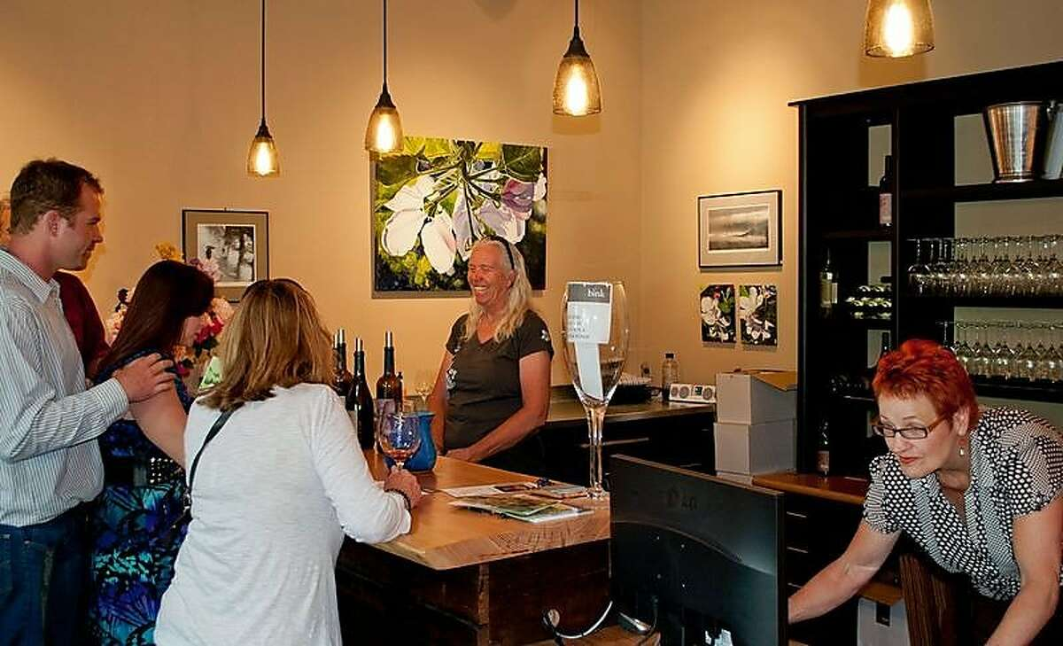 Bink Wines has a tasting room at The Madrones, an artful complex of Mediterranean buildings housing restaurants, stores and tasting rooms in Philo.