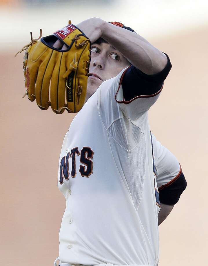 San Francisco Giants starting pitcher Tim Lincecum throws to the Pittsburgh Pirates during the first inning of a baseball game on Saturday, Aug. 24, 2013, in San Francisco. (AP Photo/Marcio Jose Sanchez) Photo: Marcio Jose Sanchez, Associated Press