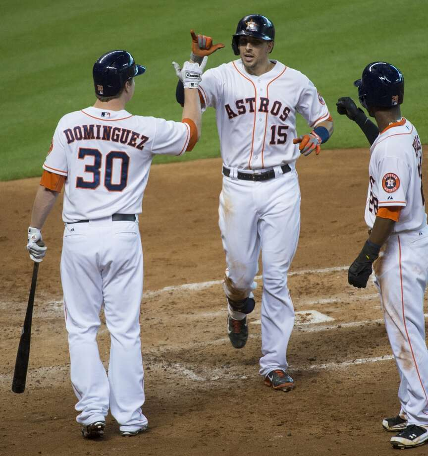 Aug. 24: Astros 8, Blue Jays 5The Astros secured a series win over Toronto thanks to Jason Castro's 3-for-3 night at the plate.  Record: 43-85. Photo: Smiley N. Pool, Houston Chronicle