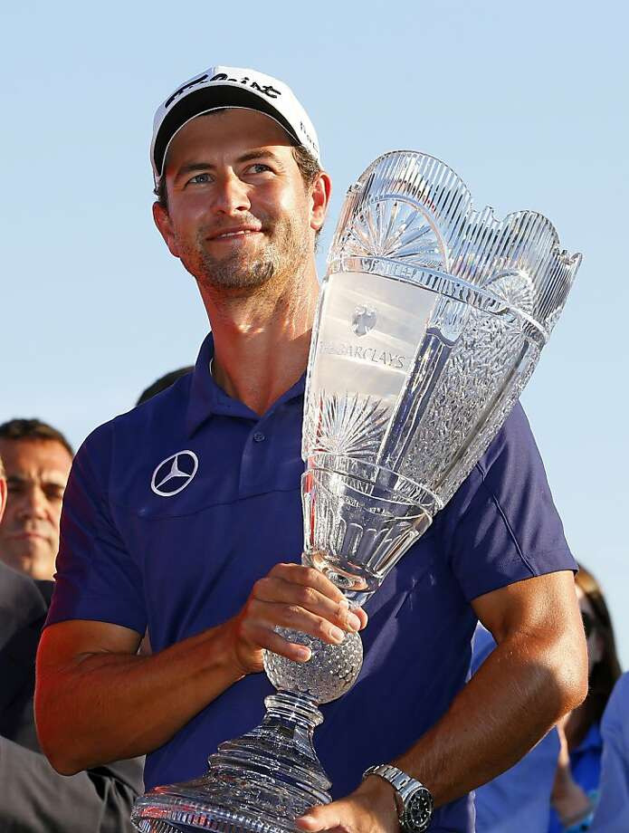 Adam Scott played bogey-free at The Barclays, finishing at 11-under 273 to move to a career-best No. 2 in the world. Photo: Rich Schultz, Associated Press