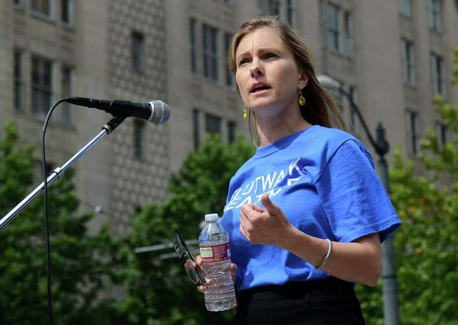 Ta Granados, one of the directors of Slutwalk, speaks to the crowd about rape culture in the United States Sunday Aug. 25, 2013 in Seattle. Photo: SY BEAN, SEATTLEPI.COM / SEATTLEPI.COM