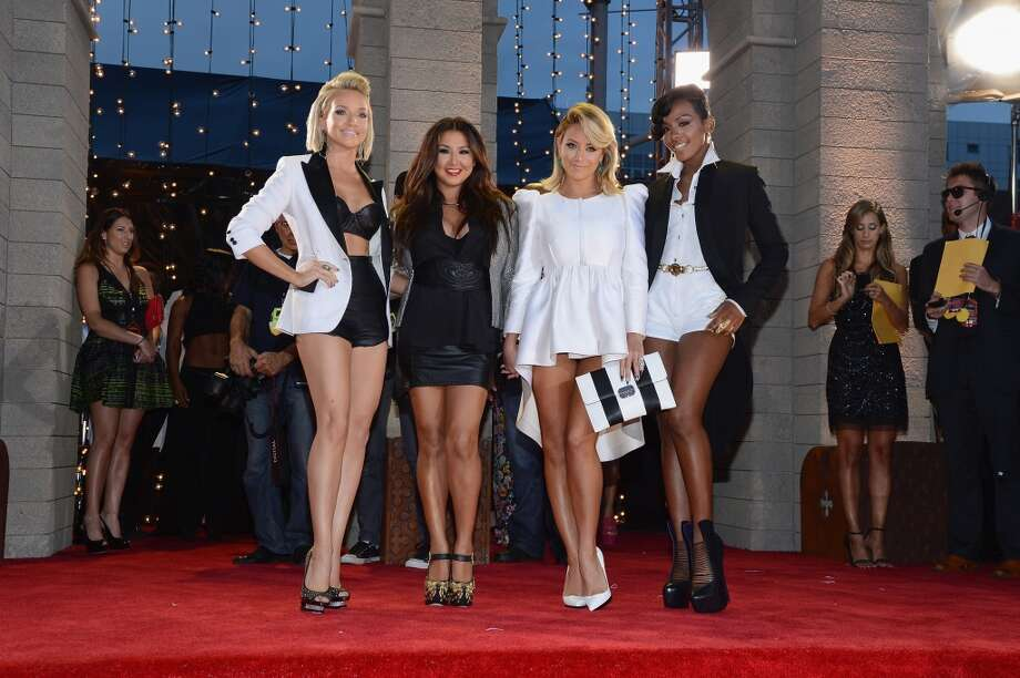 Shannon Bex, Andrea Fimbres, Aubrey O'Day and Dawn Richards of Danity Kane attend the 2013 MTV Video Music Awards at the Barclays Center on August 25, 2013 in the Brooklyn borough of New York City.  (Photo by Larry Busacca/Getty Images for MTV) Photo: Larry Busacca, Getty Images For MTV