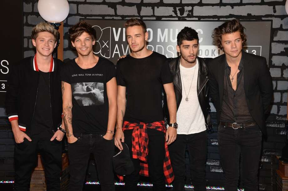 Niall Horan, Louis Tomlinson, Liam Payne, Zayn Malick and Harry Styles of One Direction attend the 2013 MTV Video Music Awards at the Barclays Center on August 25, 2013 in the Brooklyn borough of New York City.  (Photo by Jamie McCarthy/Getty Images for MTV) Photo: Jamie McCarthy, Getty Images For MTV
