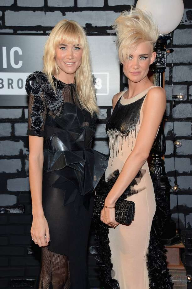 Miriam Nervo (L) and Olivia Nervo attend the 2013 MTV Video Music Awards at the Barclays Center on August 25, 2013 in the Brooklyn borough of New York City.  (Photo by Jamie McCarthy/Getty Images for MTV) Photo: Jamie McCarthy, Getty Images For MTV
