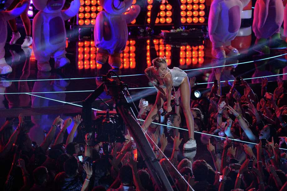 Miley Cyrus performs onstage during the 2013 MTV Video Music Awards at  the Barclays Center on August 25, 2013 in the Brooklyn borough of New  York City. Photo: Rick Diamond, Getty Images / 2013 Getty Images