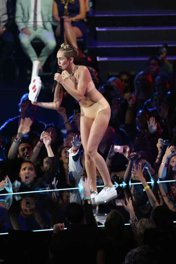 Miley Cyrus performs onstage during the 2013 MTV Video Music Awards at  the Barclays Center on August 25, 2013 in the Brooklyn borough of New  York City. Photo: Neilson Barnard, Getty Images / 2013 Getty Images
