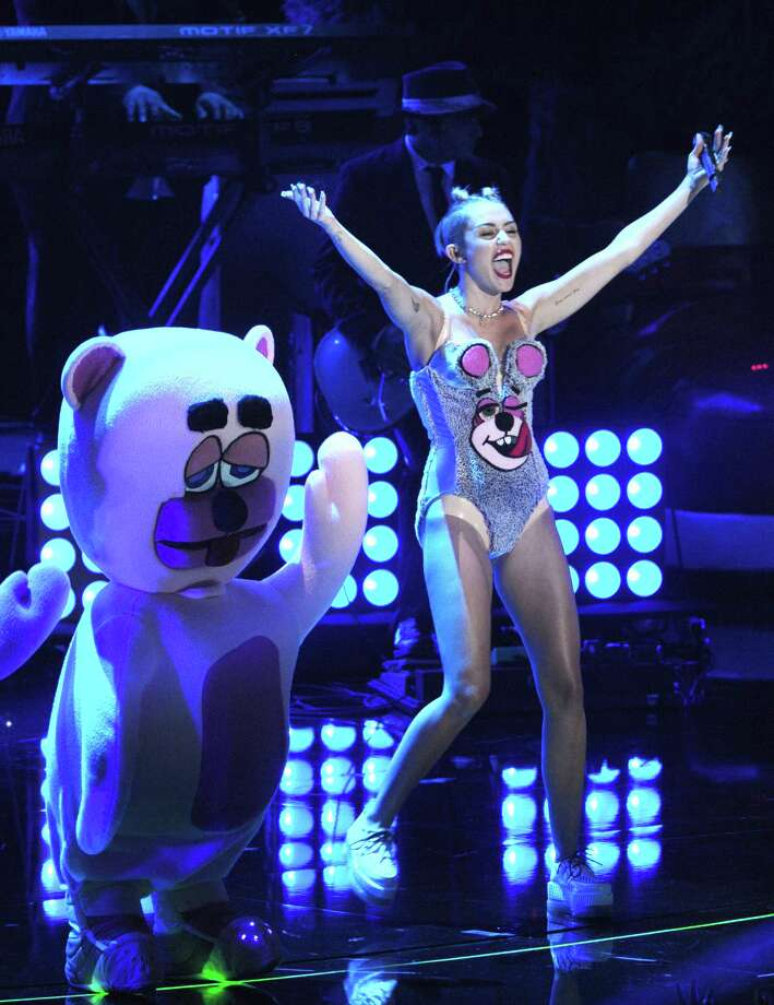 Miley Cyrus performs at the MTV Video Music Awards on Sunday, Aug. 25, 2013, at the Barclays Center in the Brooklyn borough of New York. Photo: AP