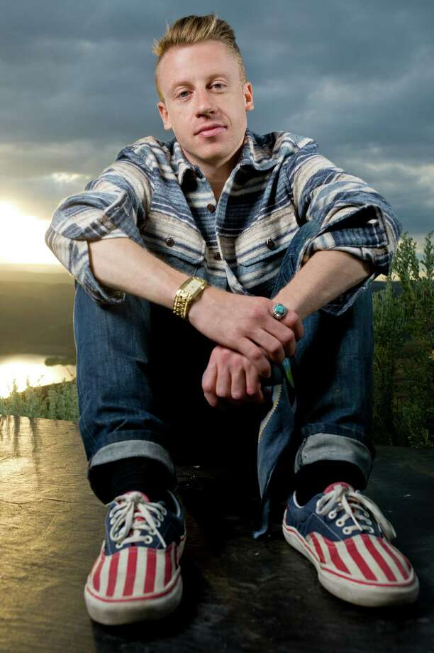 Macklemore poses for a portrait backstage at the Sasquatch Music Festival in George, Wash. on May 25, 2012. (Photo by Steven Dewall/Redferns) Photo: Steven Dewall, Getty / © Steven Dewall