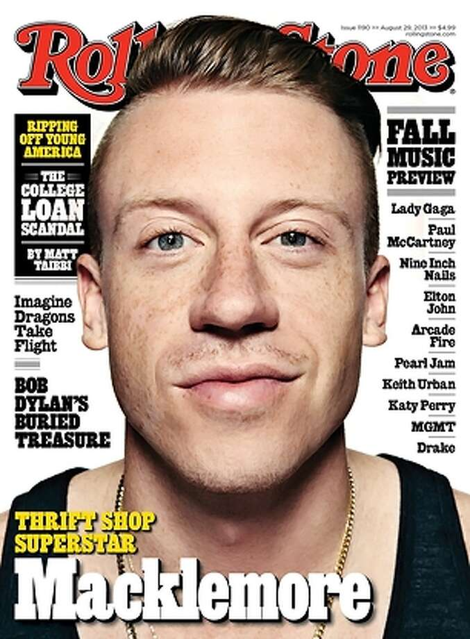 Macklemore covers the August issue of Rolling Stone. He discusses his success and former drug and alcohol addiction in the feature story. Photo: Seattlepi.com File Photo