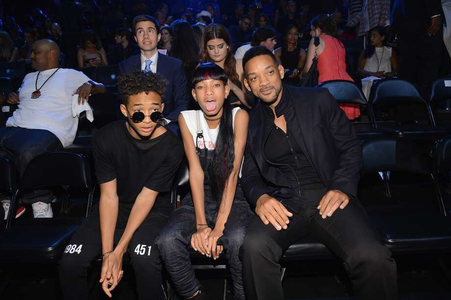 (L-R) Jayden Smith, Willow Smith and Will Smith attend the 2013 MTV Video Music Awards at the Barclays Center on August 25, 2013 in the Brooklyn borough of New York City.  (Photo by Larry Busacca/Getty Images for MTV) Photo: Larry Busacca, Getty Images For MTV