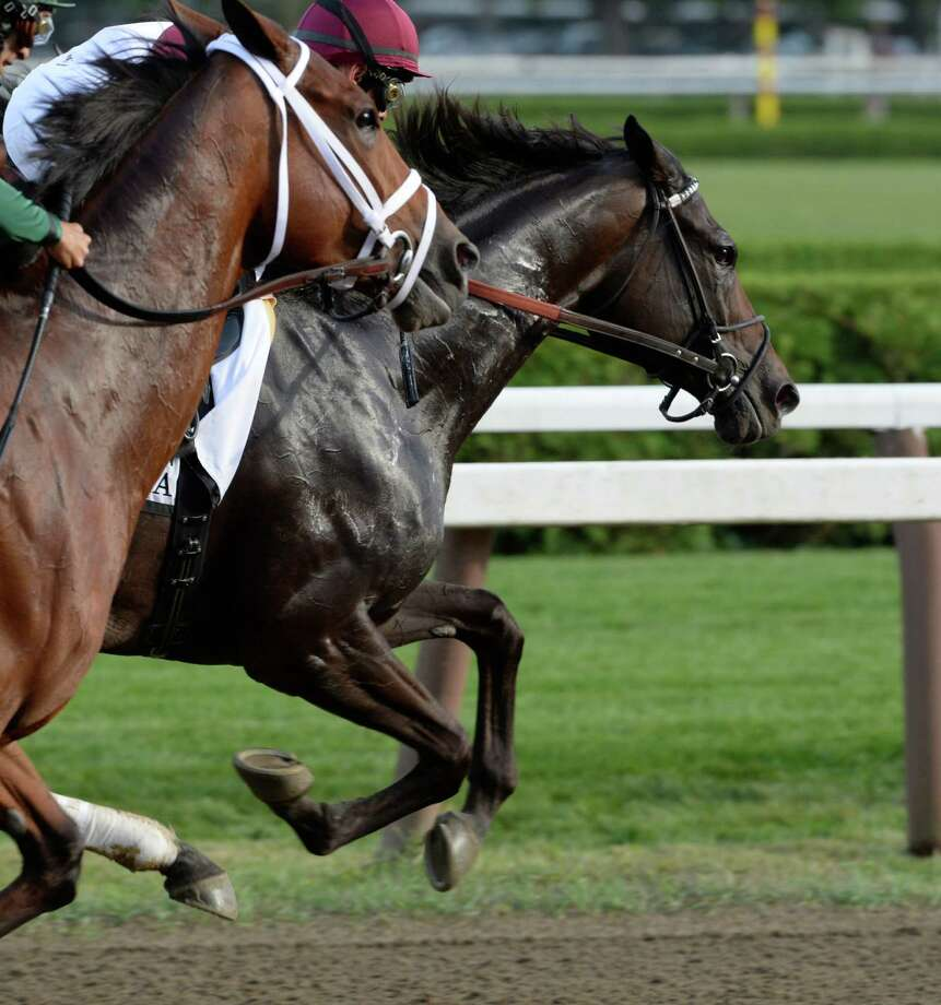 #2 Royal Delta is gunned from the starting gate by jockey Mike Smith in the 66th running of The Personal Ensign Invitational Aug 25, 2013, at the Saratoga Race Course in Saratoga Springs, N.Y. Royal Delta was never headed in the race which she won convincingly.   (Skip Dickstein/Times Union) Photo: SKIP DICKSTEIN