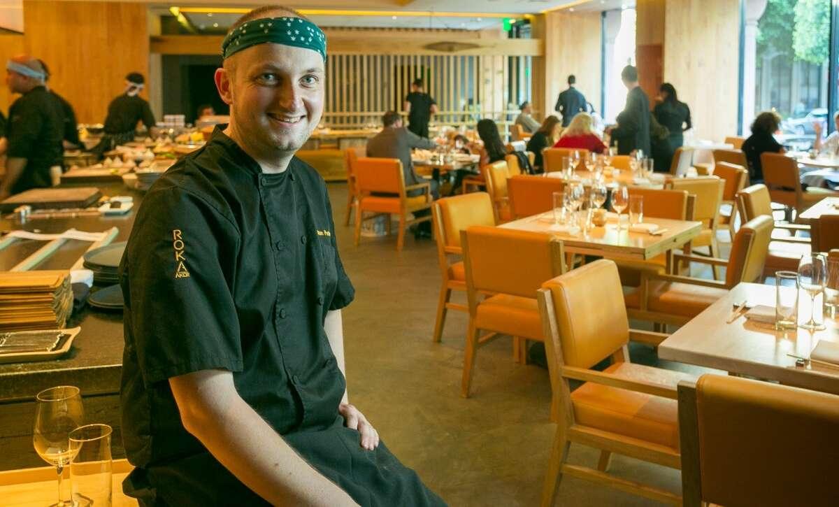 Chef Roman Petry at Roka Akor in San Francisco.
