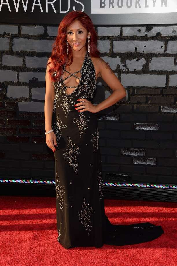 Television personality Nicole 'Snooki' Polizzi attends the 2013 MTV Video Music Awards at the Barclays Center on August 25, 2013 in the Brooklyn borough of New York City.  (Photo by Jamie McCarthy/Getty Images for MTV) Photo: Jamie McCarthy, Getty Images For MTV