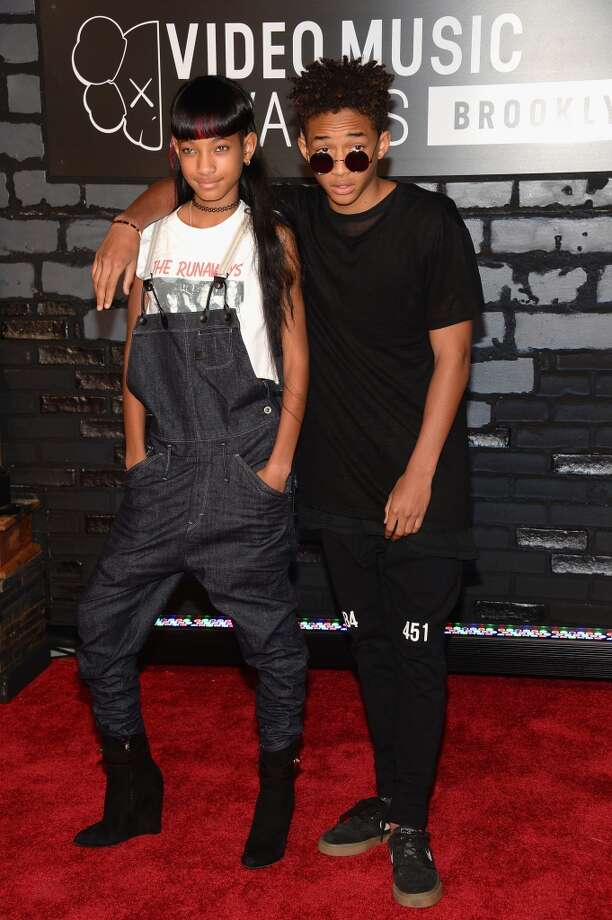 Willow Smith and Jaden Smith attend the 2013 MTV Video Music Awards at the Barclays Center on August 25, 2013 in the Brooklyn borough of New York City.  (Photo by Jamie McCarthy/Getty Images for MTV) Photo: Jamie McCarthy, Getty Images For MTV