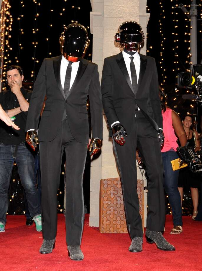 Daft Punk arrives at the MTV Video Music Awards on Sunday, Aug. 25, 2013, at the Barclays Center in the Brooklyn borough of New York. (Photo by Scott Gries/Invision/AP) Photo: Scott Gries, Associated Press