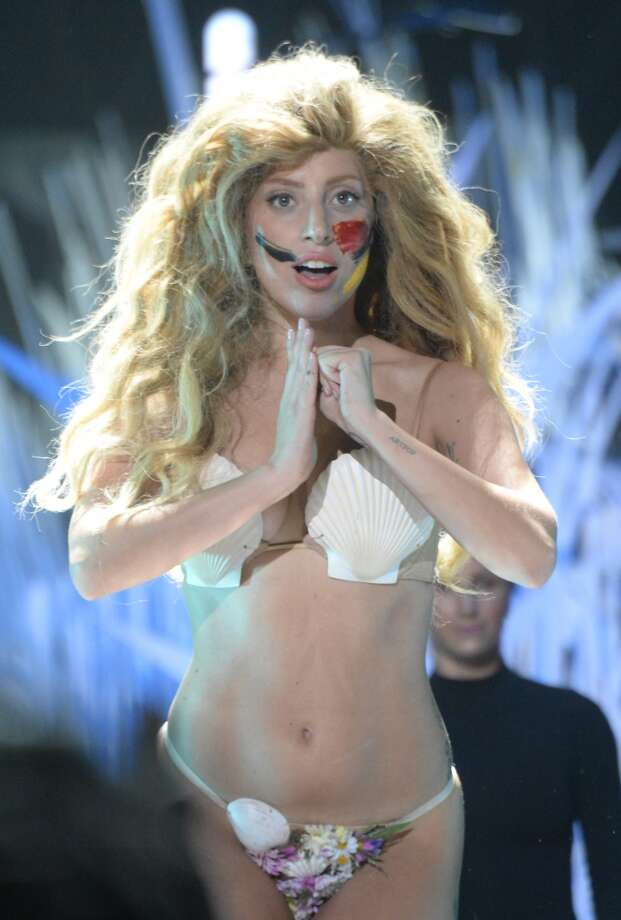 """Lady Gaga opened the show with """"Applause"""" and four costume changes. Photo: Jeff Kravitz, /FilmMagic For MTV"""