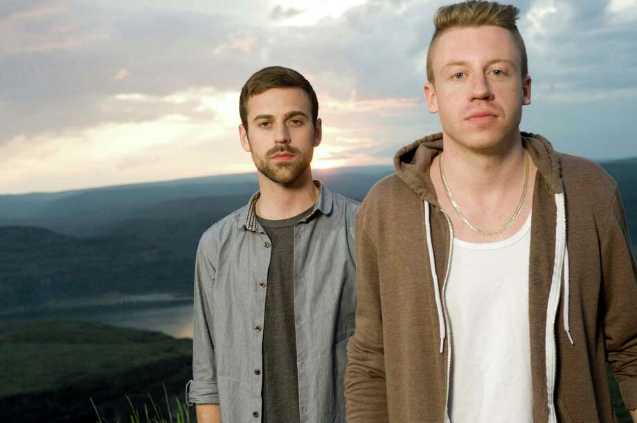 Macklemore and Ryan Lewis pose for a portrait backstage at the Sasquatch Music Festival at The Gorge in George, Wash., on May 29, 2011. (Photo by Steven Dewall) Photo: Steven Dewall, Getty / Steven Dewall/Redferns