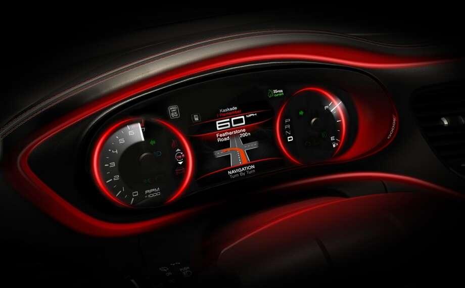 Digital instrument cluster Photo: Chrysler