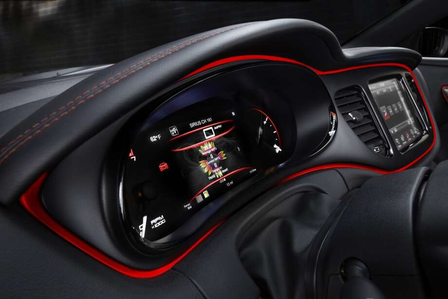 Digital instrument cluster w/sunflower mileage screen. Photo: Chrysler