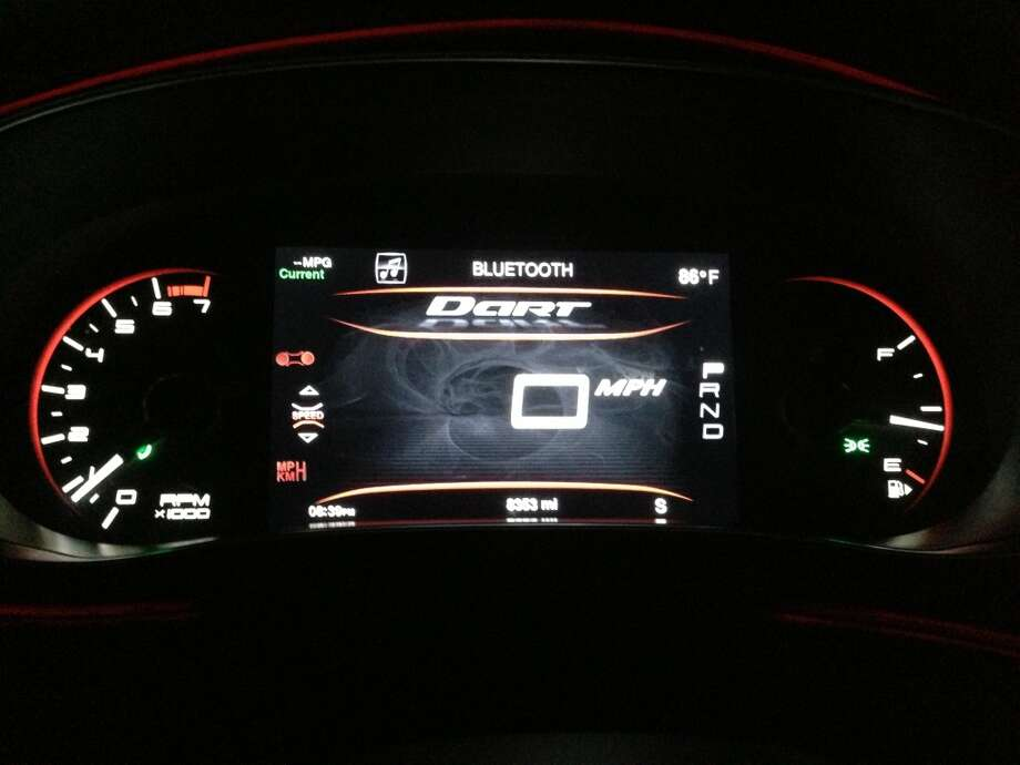 Digital speedometer view. Photo: Dwight Silverman, Houston Chronicle