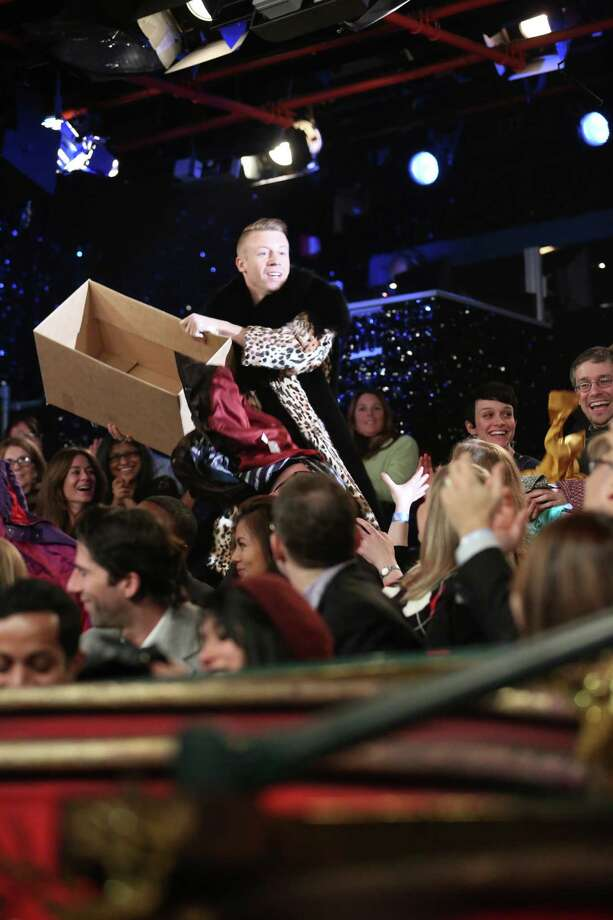 """Musical guest Macklemore performs on """"Late Night With Jimmy Fallon"""" on Dec. 11, 2012. Photo: NBC, Getty / 2012 NBCUniversal Media, LLC"""