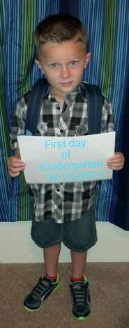 First day of kindergarten. Photo submitted by Kristy Smith. Photo: The Beaumont Enterprise