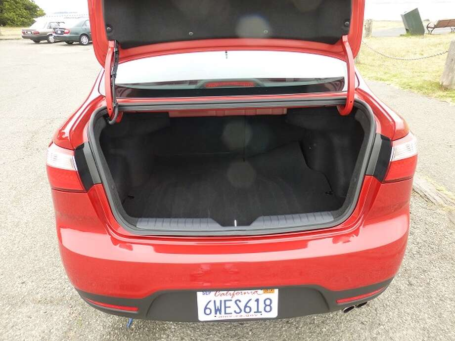 The trunk will hold more than a weekend's worth of luggage and the requisite golf bags.
