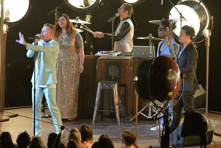 Mary Lambert, Macklemore and Ryan Lewis perform. Photo: Rick Diamond, Getty / 2013 Getty Images