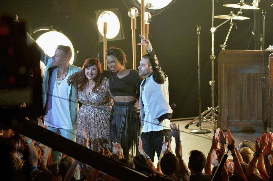 "Macklemore, Mary Lambert, Jennifer Hudson and Ryan Lewis perform ""Same Love."" Photo: Rick Diamond, Getty / 2013 Getty Images"