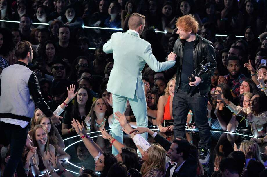 Macklemore and Ed Sheeran perform. Photo: Rick Diamond, Getty / 2013 Getty Images