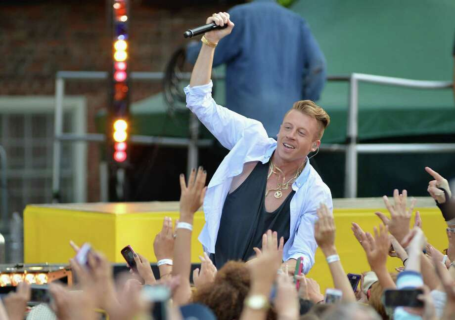 "Macklemore performs on ABC's ""Good Morning America"" at Rumsey Playfield in Central Park on Aug. 16, 2013, in New York City.  (Photo by Slaven Vlasic/WireImage) Photo: Slaven Vlasic, Getty / 2013 Slaven Vlasic"