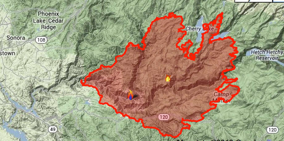 yosemite fire threatens towns  s f  u0026 39 s reservoir