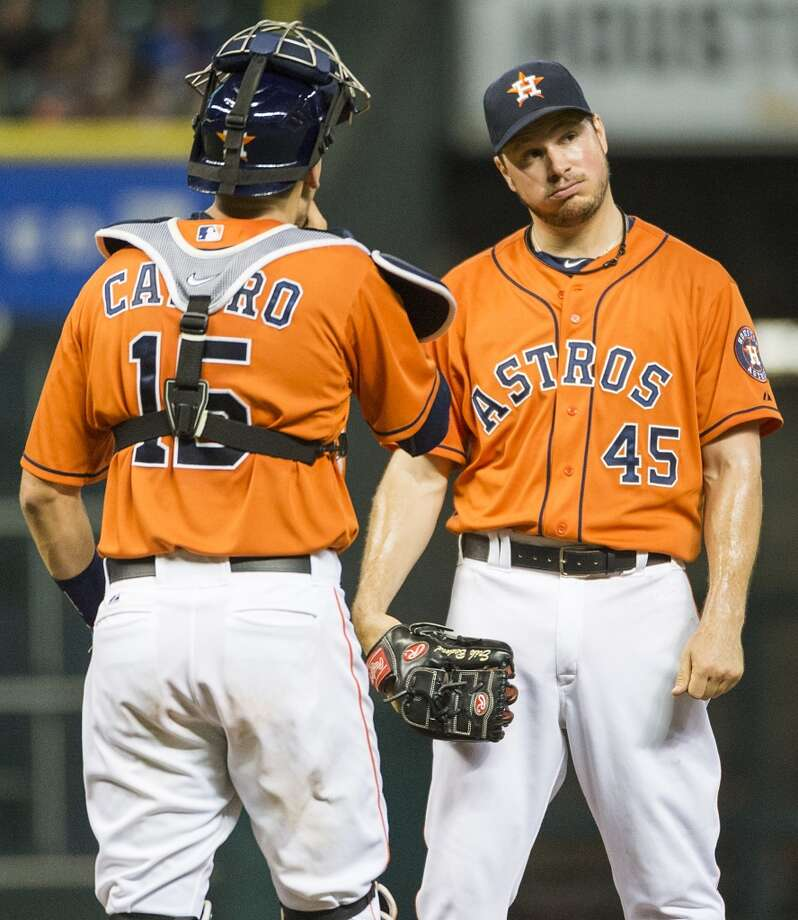 The Astros have only one player on their roster  who makes more than $1 million (Erik Bedard at $1.15 million). The following are the big salaries they have dropped in the Jim Crane era. Photo: Smiley N. Pool, Chronicle