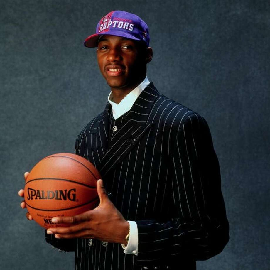 1997 NBA draftThe Toronto Raptors selected Tracy McGrady with the ninth pick in the first round of the 1997 NBA draft. Photo: Andrew D. Bernstein, Getty Images