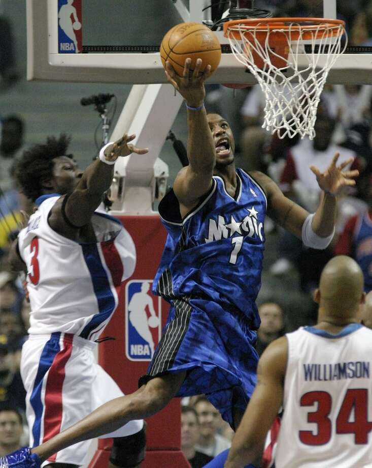 2002-03 seasonMcGrady won his first NBA scoring title as he averaged 32.1 points. Photo: Duane Burleson, Associated Press