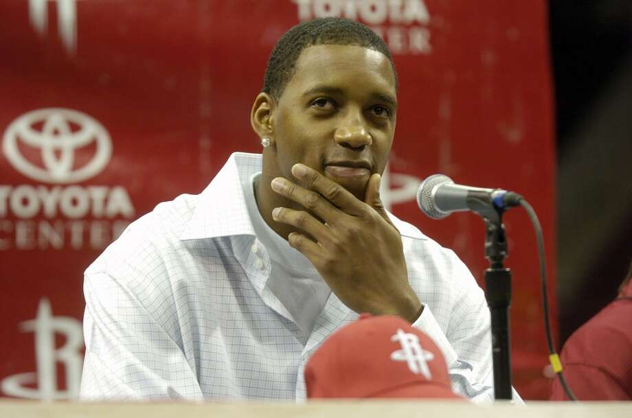 Traded to RocketsOn June 29, 2004, Tracy McGrady, Juwan Howard, Tyronn Lue, and Reece Gaines were traded to the Rockets in a seven-player deal that sent Steve Francis, Cuttino Mobley, and Kelvin Cato to the Magic. Photo: Christobal Perez, Chronicle File