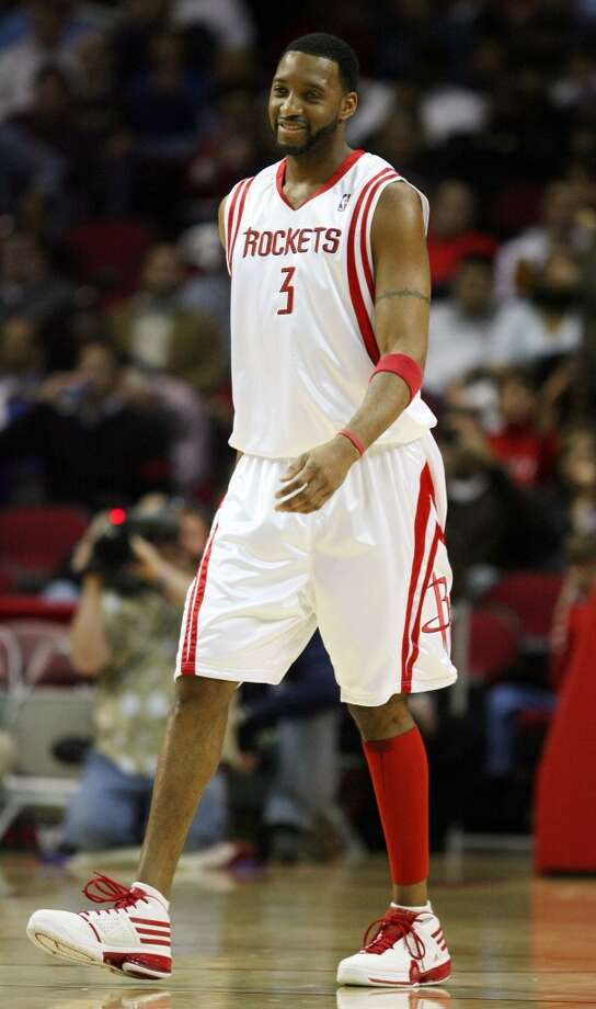 2009-10 seasonMcGrady only played in six games with the Rockets during the 2009–10 season due to injuries. He was traded to the New York Knicks in February. Photo: Billy Smith II, Houston Chronicle