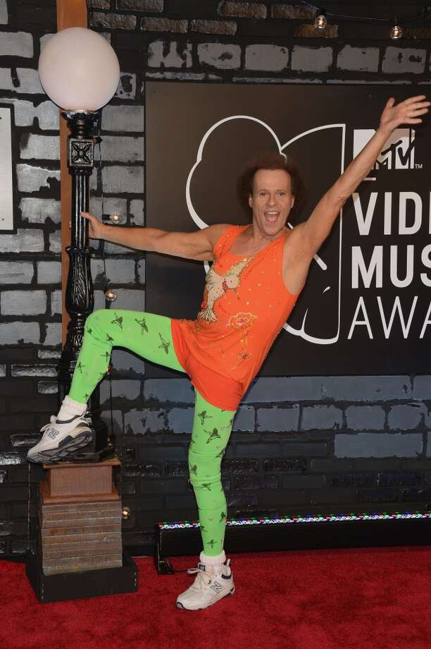 Richard Simmons' formal bird pants do not disappoint. Photo: Jamie McCarthy, Getty Images For MTV