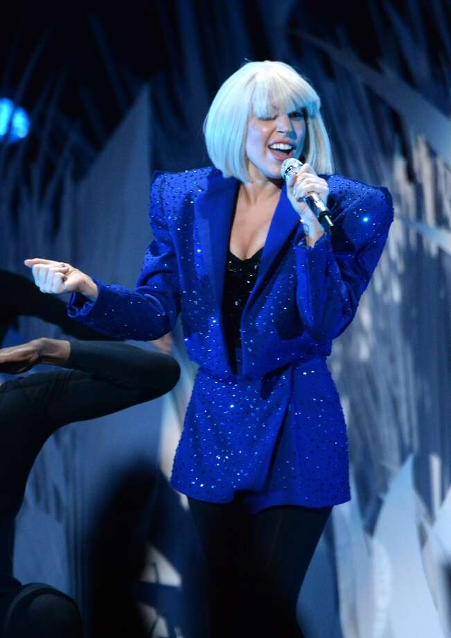 Lady Gaga performs during the 2013 MTV Video Music Awards at the Barclays Center on August 25, 2013 in the Brooklyn borough of New York City.  (Photo by Jeff Kravitz/FilmMagic for MTV) Photo: Jeff Kravitz
