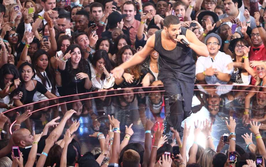 Drake performs onstage during the 2013 MTV Video Music Awards at the Barclays Center on August 25, 2013 in the Brooklyn borough of New York City.  (Photo by Neilson Barnard/Getty Images for MTV) Photo: Neilson Barnard, Getty Images For MTV