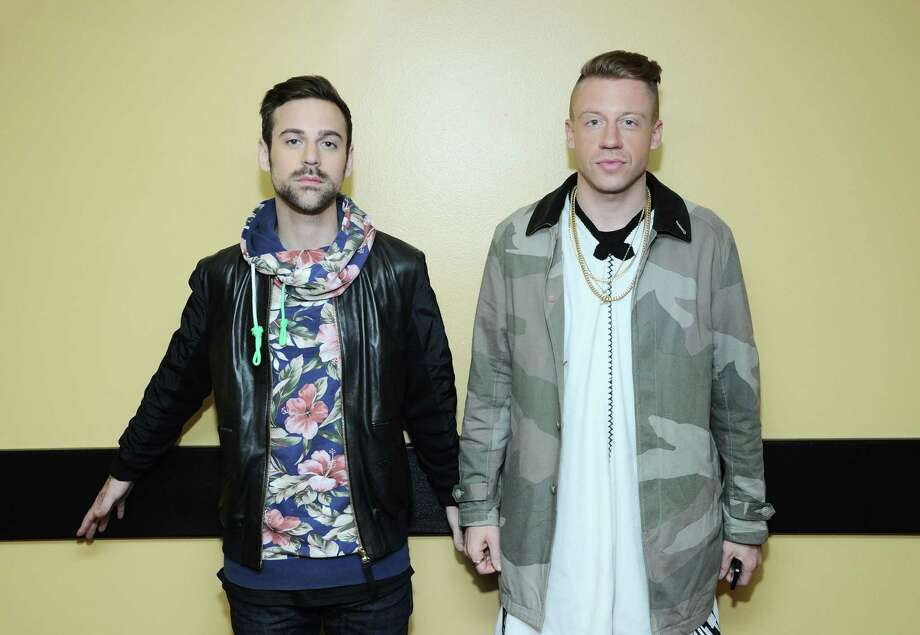 "Ryan Lewis and Macklemore backstage at BET's ""106 & Park"" at BET Studios on May 20, 2013, in New York City. Photo: Ilya S. Savenok, Getty / 2013 Getty Images"