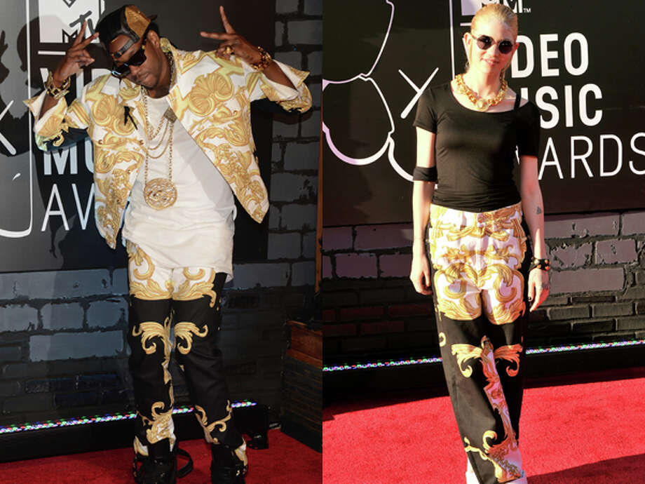 We expect celebs to show up on the red carpet in matching outfits now and then. We did not, however, expect two of those celebs to be 2 Chainz and a lady named Grimes.