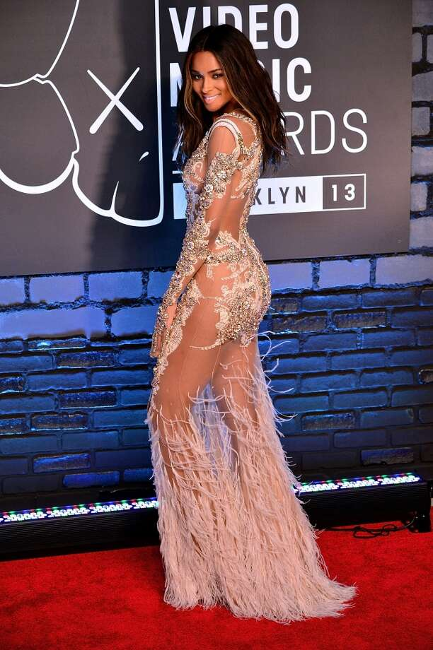 Ciara wins the 'most naked at the VMAs contest.' Photo: James Devaney, WireImage