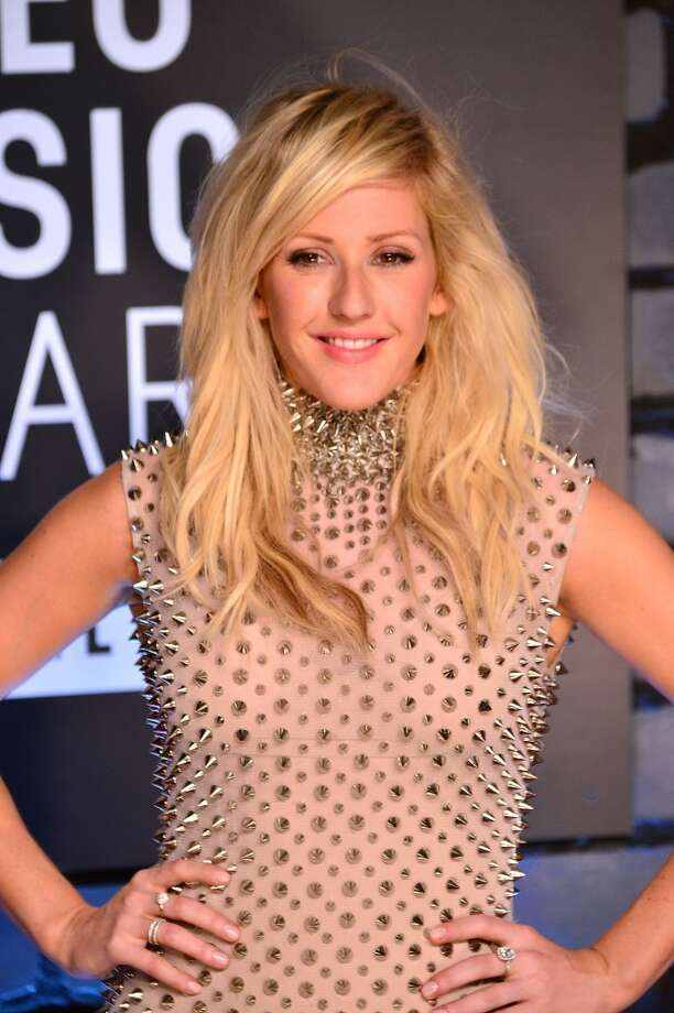 One thing we can tell about Ellie Goulding - she doesn't want any hugs. Photo: James Devaney, WireImage