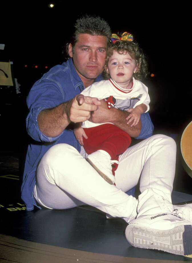 Miley, of course, is the daughter of country music singer Billy Ray Cyrus. Here they are at the the Elvis Presley Tribute Concert on October 8, 1994 at Pyramid Arena in Memphis, Tenn. Photo: Ron Galella, Ltd., WireImage / 1994 Ron Galella, Ltd.