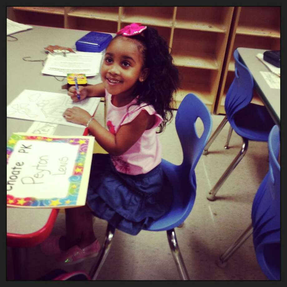 Peyton Lewis' 1st day of Pre-K! Photo by Tee Lewis. Photo: Beaumont Enterprise