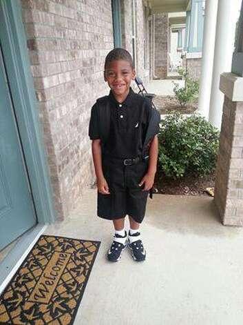 First Day of School...Deion Kenneth DeSean Jacksonl..1st Grade. Photo by Belinda Dill. Photo: Beaumont Enterprise